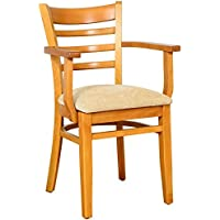 Beechwood Mountain BSD-5A-C Solid Beech Wood Arm Chair in Cherry for Kitchen & Dining, NA
