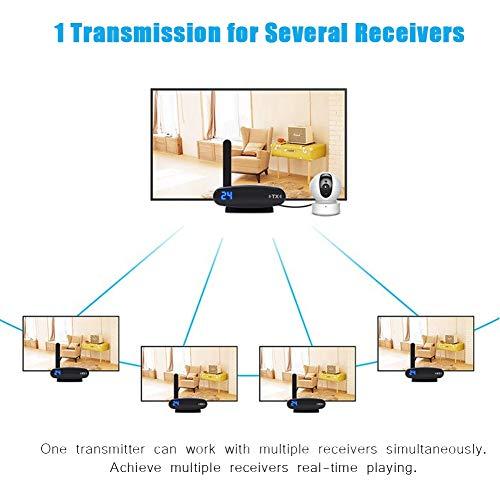 EU garsent Transmisor inal/ámbrico HDMI y Receptor AV Inal/ámbrico de 5.8GHz Transmisi/ón AV de Datos en Tiempo Real 1-para Todos Transmisi/ón de Datos en Todo el Mundo 200m Compatibilidad.