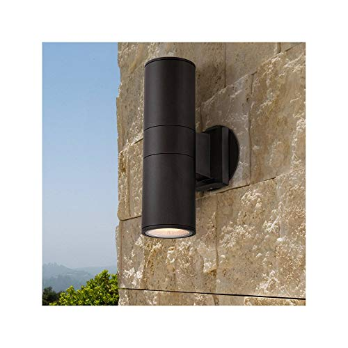 (Ellis Modern Outdoor Wall Light Fixture Black 11 3/4