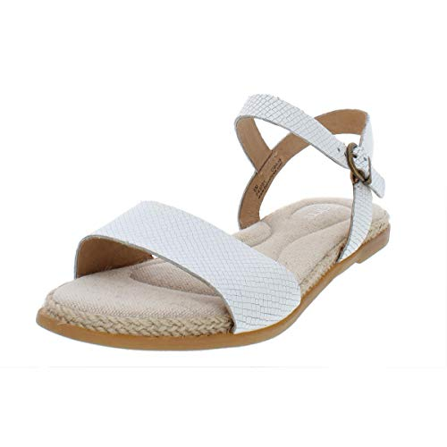 - Born Womens Welch Open Toe Casual Slingback Sandals, White, Size 9.0