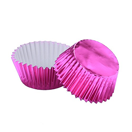 Warm party Foil Baking Cups Cupcake Liners, Standard Sized, 200 Count (Purple),