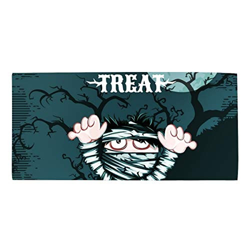 (Halloween Mummy Super Absorbent Bath Hair Towel Microfiber Hand Towels Custom Fast Drying)