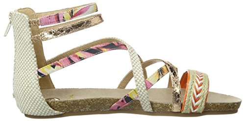 Sandal Flower Multicolore Orange Orange Donna La Coloured Strada Sandali 4237 Woven aHOZtWBA