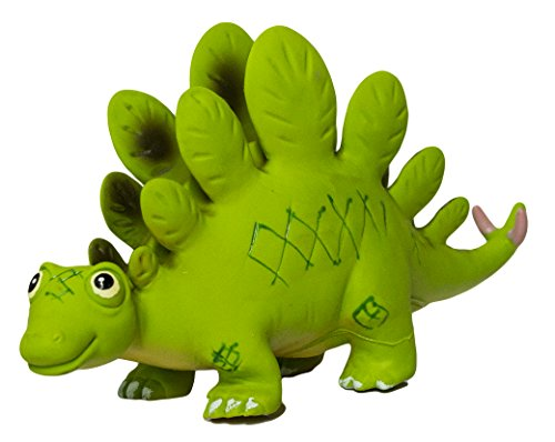Large Stegosaurus 9.5 Inch Soft Rubber Cartoon Dinosaur Toys (Rubber Large Soft)