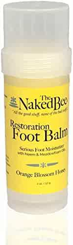 The Naked Bee Restoration Foot Balm, 2 Ounce, Orange Blossom Honey