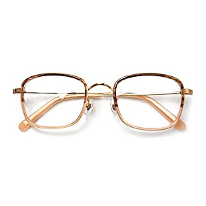 Komehachi - Vintage Rectangle pink clear lens rx eyeglass frames for women(Pink)
