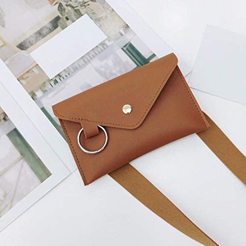 Crossbody Bags Dream Room Women Fashion Pure Color Ring Leather Shoulder Bag