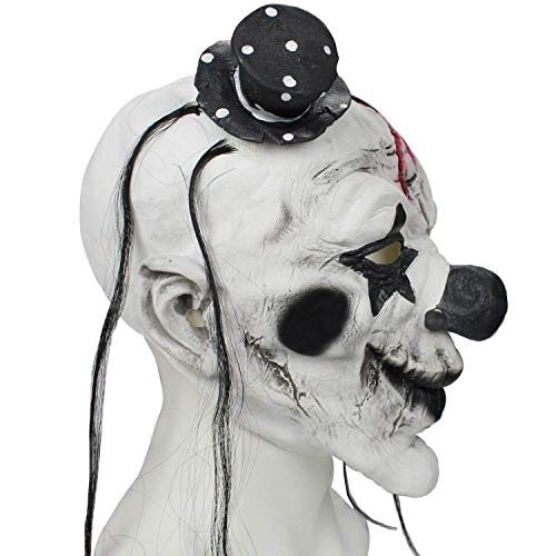 Evil Satanic Demon Scary Horror Halloween One Size Evil Scary Clown Mask by Halloween Paradise (Image #4)