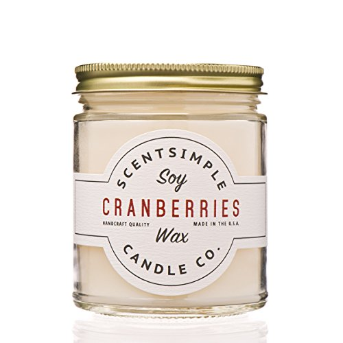 ScentSimple Scented Soy Candle, Cranberries
