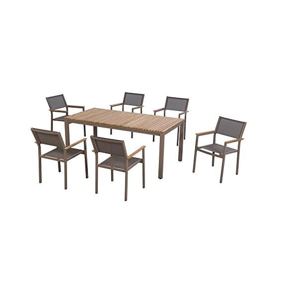 Hampton Bay Barnsdale Teak 7-Piece Patio Dining Set T1840+C2011 -  - patio-furniture, dining-sets-patio-funiture, patio - 41iZYzl vPL. SS570  -