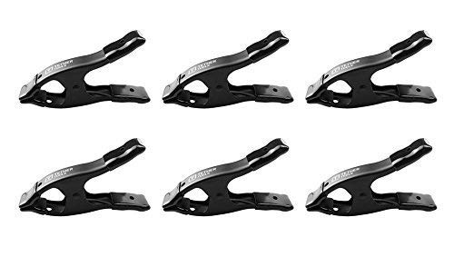 Rock Solid Pony''A'' Spring Clamp 2'' - Black 6 Pack by Tether Tools