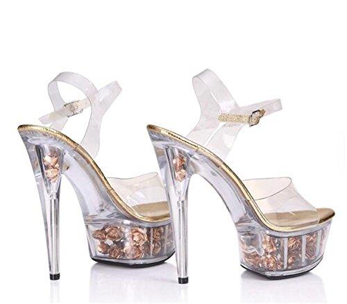 Mujer Flor Zapatos Transl Plataforma Encender araW4T