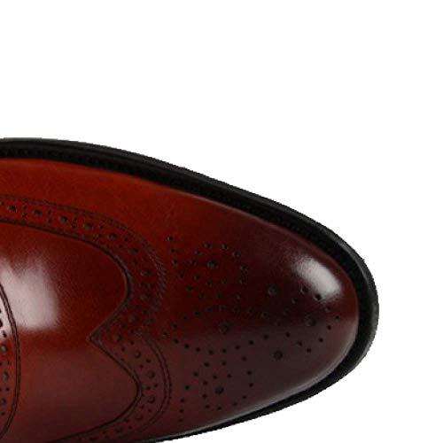 ZQZQ Uomini Red Traspiranti A brown 37 Punta Lavoro Inglesi Formali da rrd8x