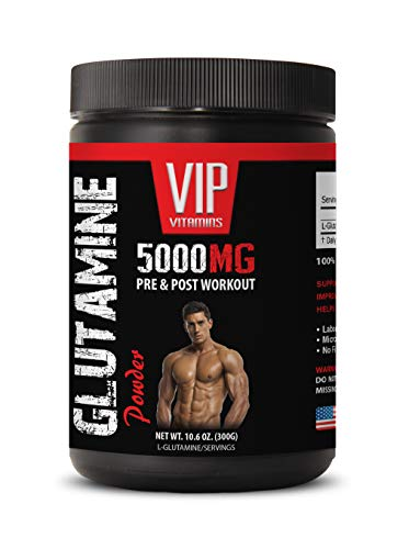 pre Workout Fat Burner - GLUTAMINE Powder 5000MG - PRE & Post Workout - l-glutamine Best - 1 Can 300 Grams