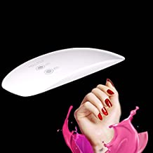 UV Nail Lamp Nail Dryer LED Nail Curing Light Gel Mini Portable with USB Port 5W for Polishes Manicure Pedicure at Home and Beauty Salon 2 Timing Settings by Hmjunboys(White)