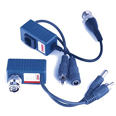 CCTV Video Balun Power Audio Video Transceiver Pair