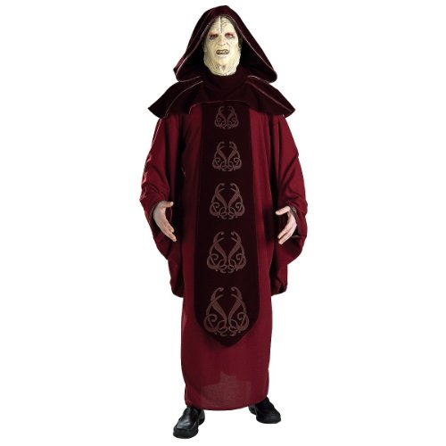 Emperor Palpatine Costume Mask - Rubie's Men's Star Wars Supreme Edition Adult Emperor Palpatine and Mask, Multicolor, Standard