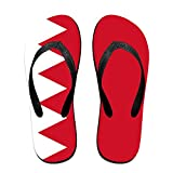Bahrain Flag Cozy Flip Flops For Children Adults Men And Women Beach Sandals Pool Party Slippers