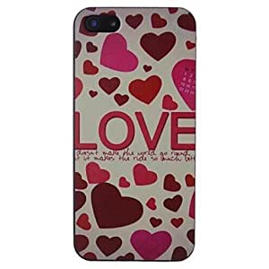 DUR Love Pattern Black Frame PC Hard Case for iPhone 5/5S