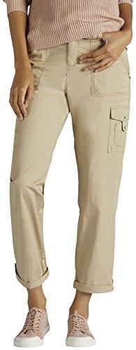 Khaki Capri Pants - LEE Women's Relaxed Fit Santiago Knit Waist Capri Pant, Bungalow Khaki, 12