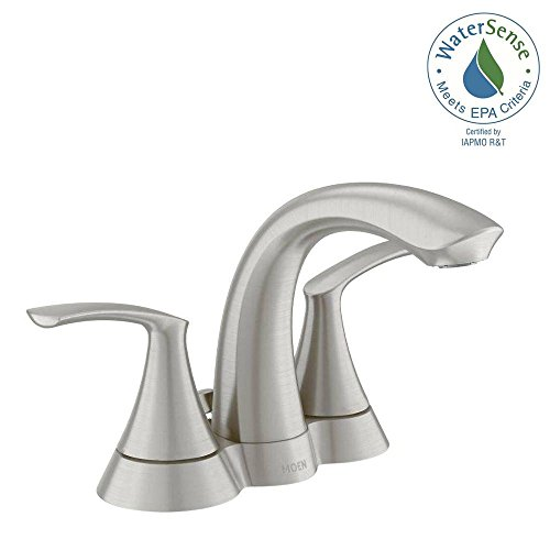 Moen WS84550 Spot Resist Brushed Nickel Darcy 1.2 GPM Double Handle Bathroom Faucet