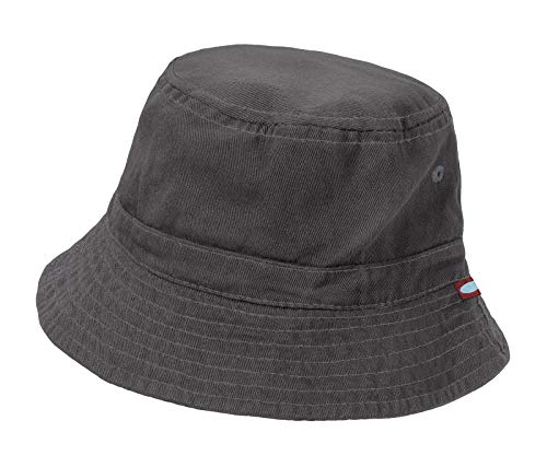 City Threads Little Boys' and Girls' Solid Wharf Hat Bucket Hat for Sun Protection SPF Beach Summer - Charcoal - XL(4-6)