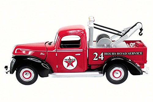 1940 Ford Tow Truck Texaco, Red - Texaco 0607R - 1/18 Sca...