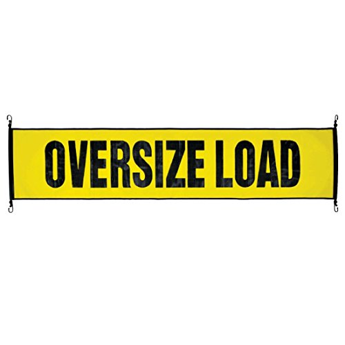 Vulcan Stretch Cord Mesh Oversize Load Banner With Heavy Duty Metal Hooks (18