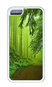 Forest Fog Green Custom iPhone 5C Case Cover TPU White