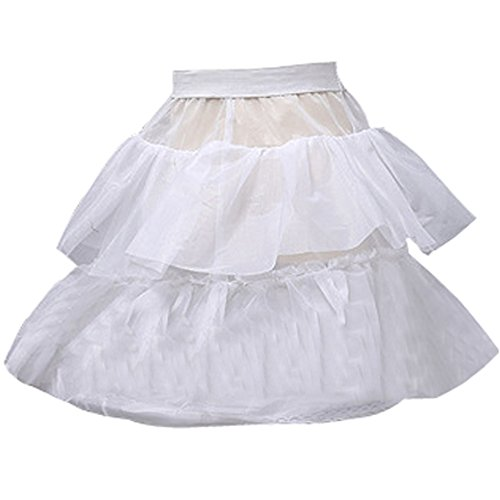 Castle Fairy Baby's 2 Layer Ruffles Wedding Flower Girl Petticoat Crinoline (one size) by Musebridal