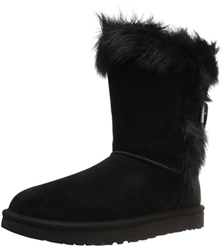 Ugg Fur Boots (UGG Women's Deena Winter Boot, Black, 7 M US)