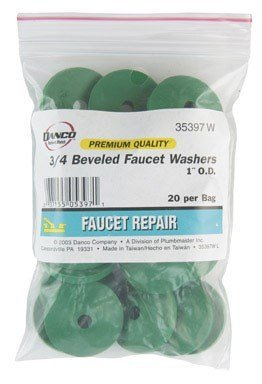 "Danco Beveled Faucet Washer 3/4 "" Rubber Polybag"