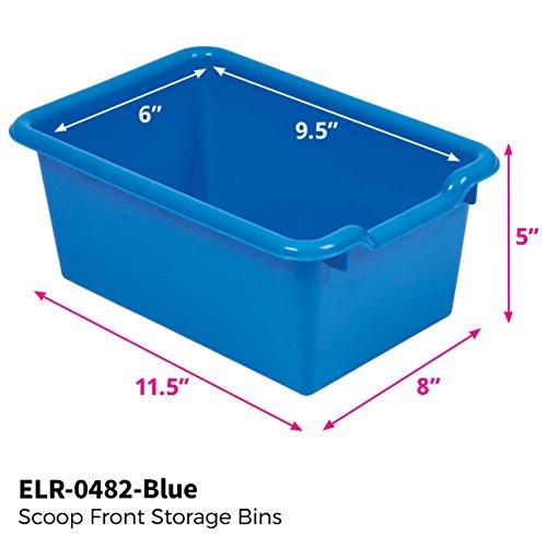 Amazon.com: ECR4Kids Scoop Front Storage Bins, Blue (10 Pack): Toys U0026 Games