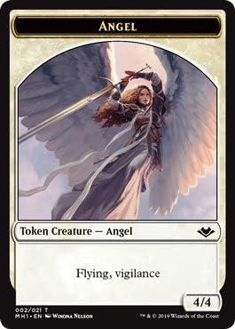 Foil Mtg Modern Horizons 1x Angel Token