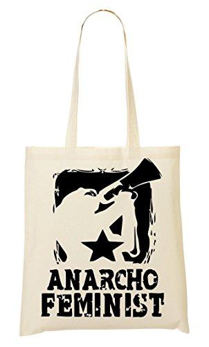 CP This Is Anarcho Feminist Bolso De Mano Bolsa De La Compra