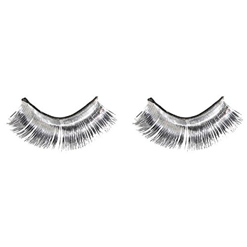 Amscan Tinsel Eyelashes, Party Accessory, Silver