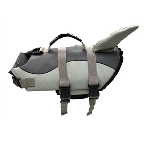 Morecome Pet Life Jacket,Pet Outward Adjustable Dog Life Jacket with Rescue Handle (Back Length:35cm, A) by Morecome pet vest (Image #1)