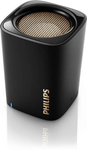 Philips BT100B/37 Wireless Mini Compact Portable Bluetooth Speaker with Built-In Microphone for Phone Calls