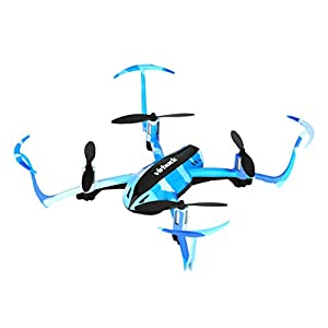 Virhuck T915 RC Drone 2.4 GHz 4 CH 6 AXIS GYRO System LED Lights Headless Inverted Flight One Key Return Mode Quadcopter (Camouflage Blue)