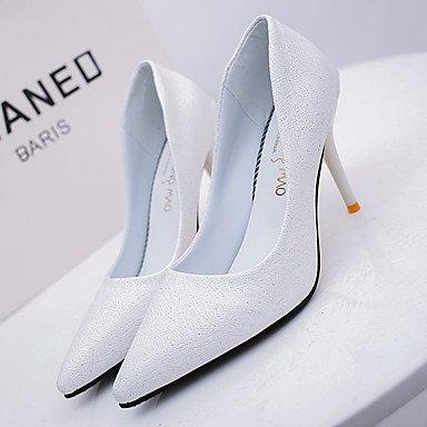 Talones de las mujeres Zapatos Primavera Verano Otoño Invierno club Comfort PU Oficina Boda Carreras y vestido de noche del tacón de aguja OthersBlack White