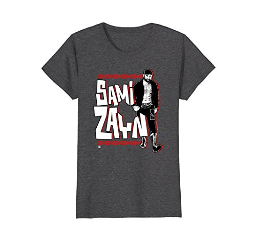 Womens WWE Sami Zayn Full Body with Logo Small Dark Heather by WWE