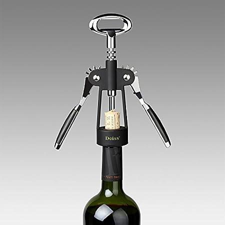 Deiss Pro Abridor de Vino - Sacacorchos Vino - Descorchador de Vino - Construcción Ligera y Robusta - Apto para lavavajillas