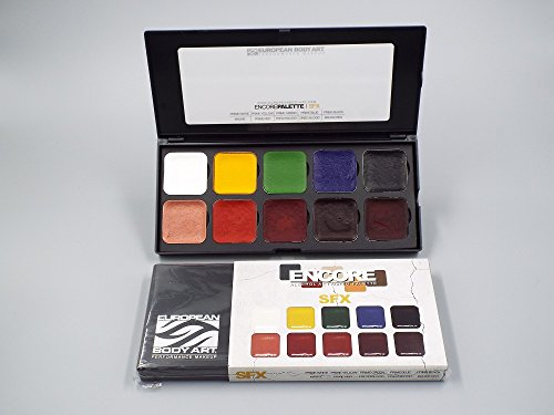 EBA Encore SFX Palette - Alcohol Activated! Professional Full Size Special Effects Makeup - Refillable Tabs
