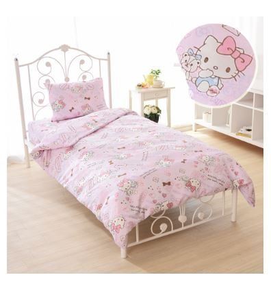 (SANRIO HELLOKITTY Princess Kitty duvet cover, sheets, pillow case pink three-piece set Japanese-style)