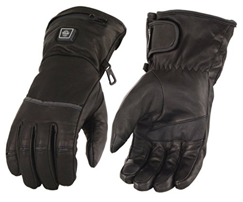 (Milwaukee Leather Men's Heated Gantlet Glove w/Touch Screen-Black-Large)