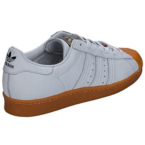adidas Superstar 80s DLX (weiß / gum) Weiß