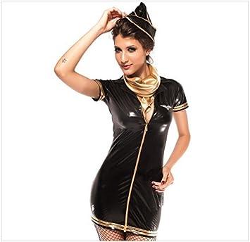 50aa1fe8dbf Ladies Sexy Airline Stewardess Air Hostess Halloween Cosplay Costume ...