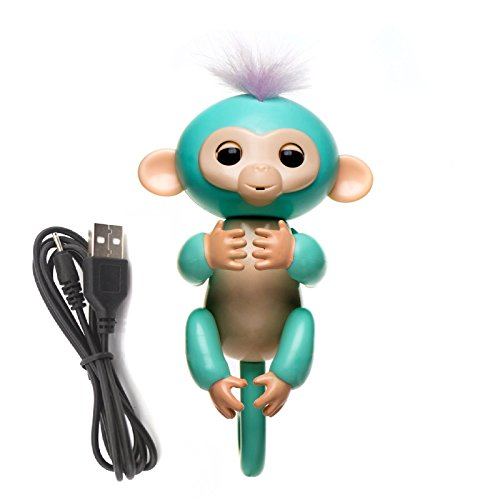 Finger Monkey with USB Rechargeable Battery – Interactive Smart Toy Mini Monkey – Finger Puppet Robot Makes Sound and Movement for Hours of Fun – Perfect Kids Toys for Boys and Girls by Shragis