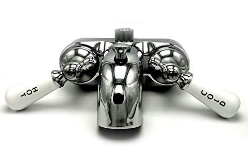 Clawfoot Faucet W/porcelain Handles 3 3/8