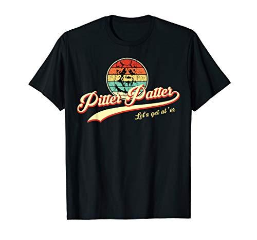 Pitter Funny Patter Let's Get At 'er Retro T-Shirt For Men